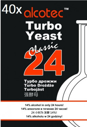 Alcotec Turbo Kvasnice 24 hodin -40x