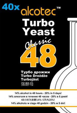 Alcotec Turbo Kvasnice 48 hodin -40x
