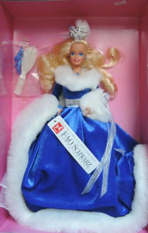 BARBIE Winter Fantasy blonde (rok 1990) - mírně poškozený obal