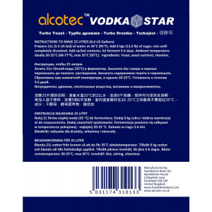 Alcotec Vodka Turbo Kvasnice w/GA