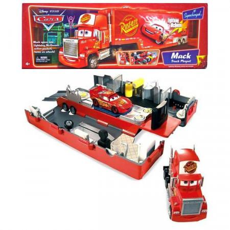 Cars (Auta) Mack Truck (rozkládací kamion) + Lightning McQueen (Blesk)