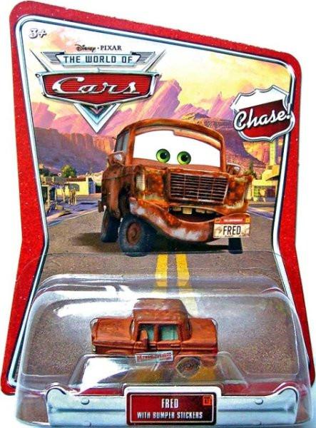 CARS (Auta) - Fred Chase with Bumper Stickers - poškozený obal