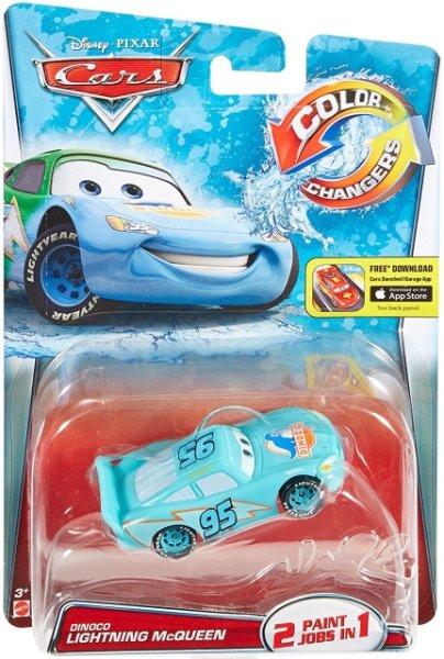 CARS (Auta) - Color Changers Dinoco Lightning McQueen (Blesk) - modrá-zelená