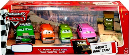 CARS (Auta) - 5pack Sarge's Boot Camp (Seržův výcvikový tábor) - T. J. Hummer + Murphy + Charlie + Frank + Sarge