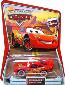 CARS (Auta) - Lightning McQueen with Bumper Stickers Chase (Blesk McQueen)