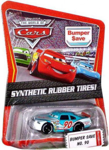 CARS (Auta) - Bumper Save 90 Rubber Tires (gumová kolečka) - poškozený obal