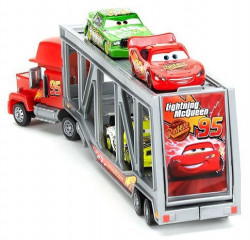 Cars (Auta) Mack Transporter + Lightning McQueen (Blesk) + Chick Hicks + Leakless