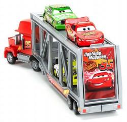 Cars (Auta) Mack Transporter + Lightning McQueen (Blesk) + Chick Hicks + Leakless
