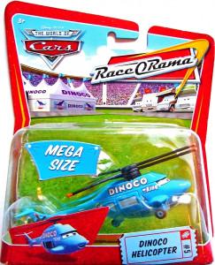 CARS (Auta) - Dinoco Helicopter Race O'Rama MEGA SIZE