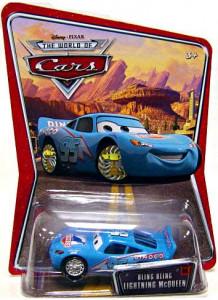 CARS (Auta) - Bling Bling McQueen (Blesk Dinoco) WORLD OF CARS - výrazně poškozený obal