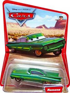 CARS (Auta) Ramone Green (Zelený Ramone) - SBĚRATELSKÝ - 1. SÉRIE - poškozený obal