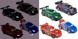 CARS 2 (Auta 2) - 4pack We Light-Up - Lightning McQueen + Nigel + Max + Raoul