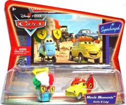 CARS (Auta) - Luigi + Guido Ferrari Fans - SUPERCHARGED - výrazně poškozený obal