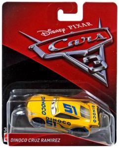 CARS 3 (Auta 3) - Dinoco Cruz Ramirez Nr. 51 (Cruz Ramirézová) - výrazně poškozený obal