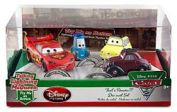 CARS 2 (Auta 2) - 4pack That´s Amore!!! - Luigi + Guido + Uncle Topolino + Lightning McQueen