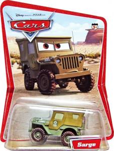 CARS (Auta) - Sarge (Serža) - SBĚRATELSKÝ - 1. SÉRIE - poškozený obal