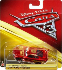 CARS 3 (Auta 3) - Rust-Eze Racing Center Lightning McQueen (metalický)