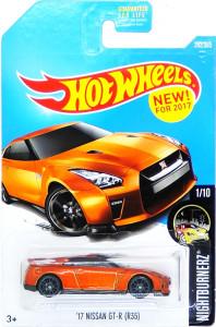 HOT WHEELS - '17 Nissan GT-R (R35) (orange)