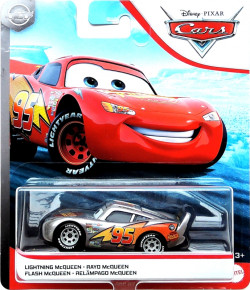 CARS (Auta) - Lightning McQueen with Metallic Finish Silver