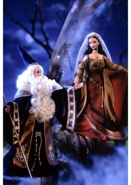 BARBIE a KEN jako Merlin & Morgan Le Fay