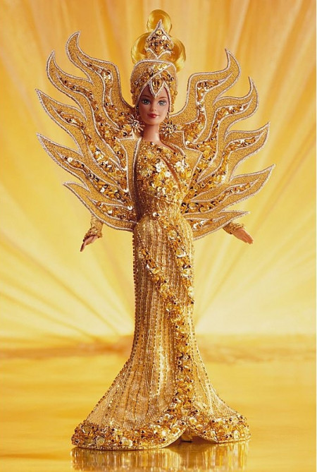 BARBIE Goddess of the Sun (sluneční bohyně) by Bob Mackie - rok 1995