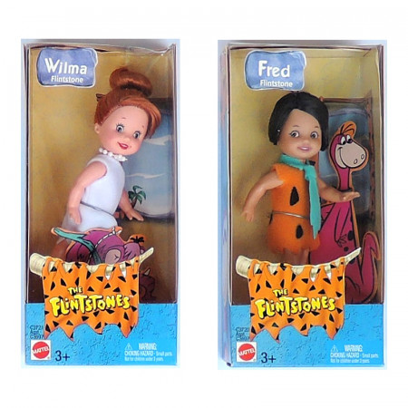 KELLY - Wilma + Fred, kolekce the Flintstones, rok 2003 - mírně poškozená krabička