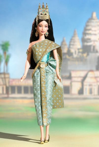 BARBIE Princess of Cambodia (princezna Kambodže) - mírně poškozený obal