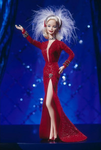 BARBIE Doll as Marilyn in the Red Dress from Gentlemen Prefer Blondes - rok 1997