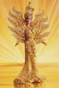 BARBIE Goddess of the Sun (sluneční bohyně) by Bob Mackie - rok 1995