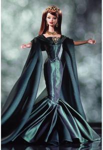 BARBIE Empress of Emeralds (smaragdová císařovna) s krystaly Swarovski - rok 2000