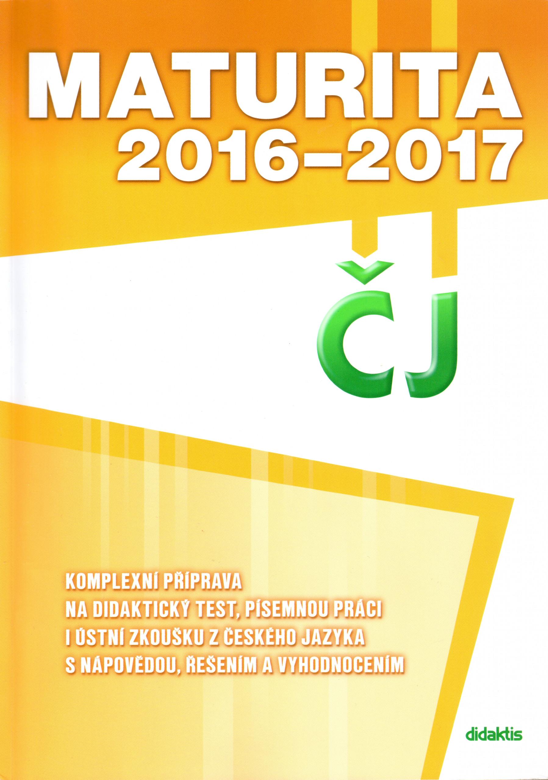 Maturita 2016–2017 z českého jazyka a literatury - Náhled učebnice