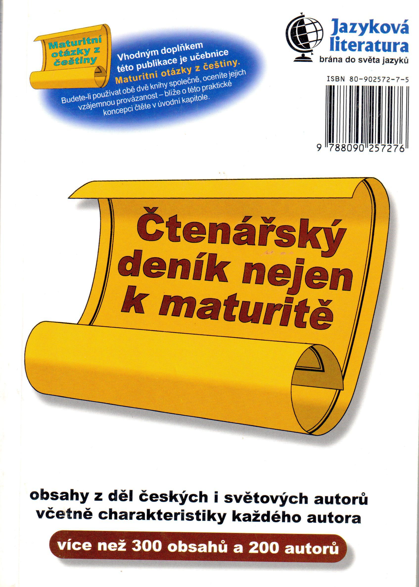 Čtenářský deník nejen k maturitě - Náhled učebnice