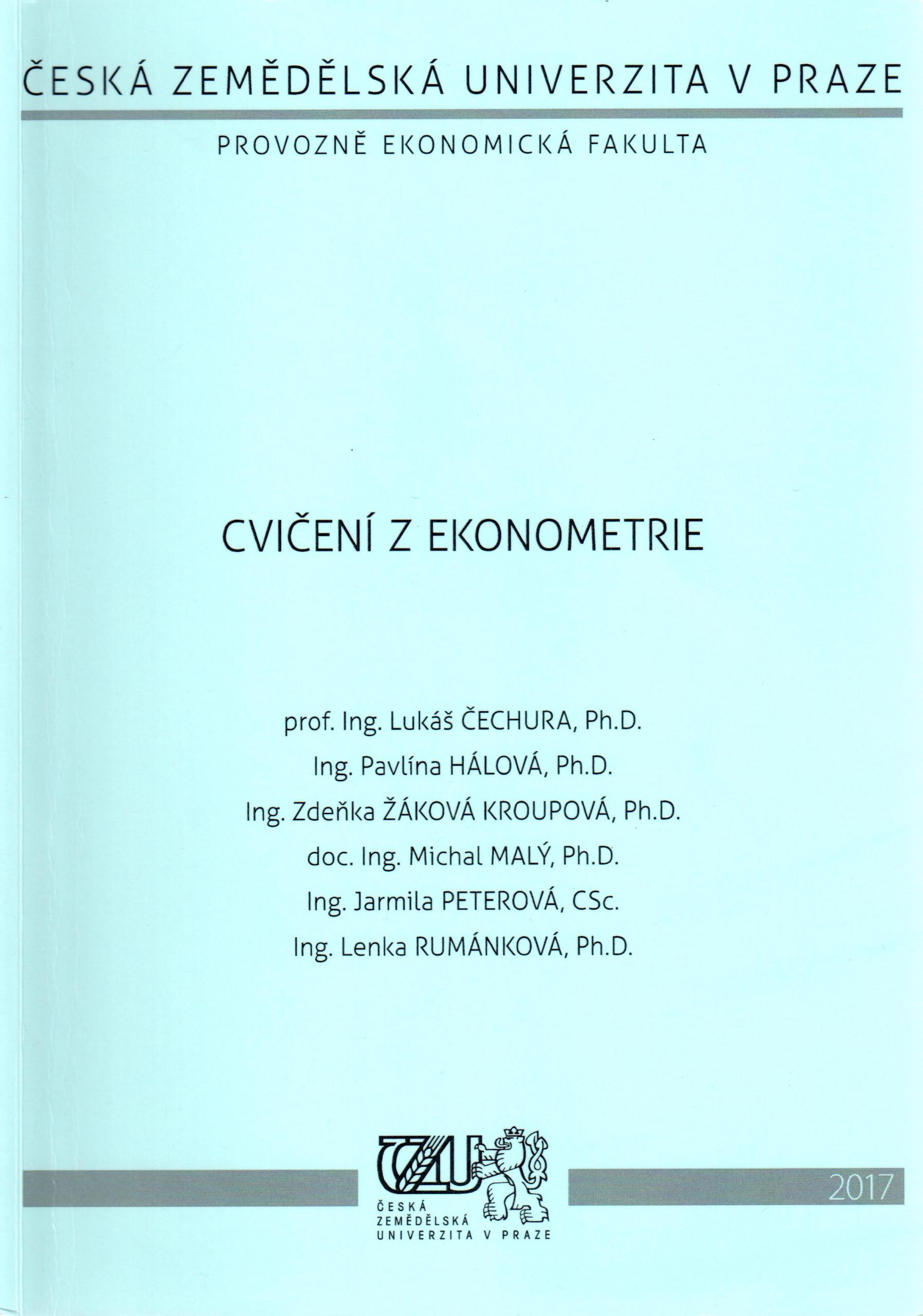 Cvičení z ekonometrie - Náhled učebnice