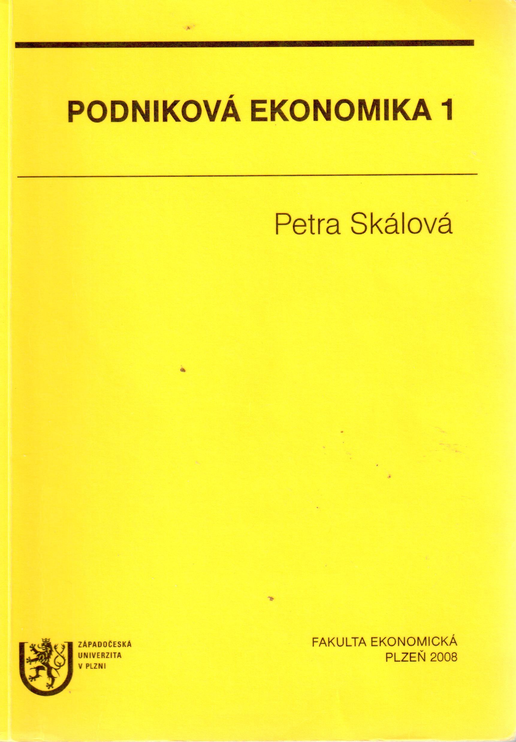 Podniková ekonomika 1 - Náhled učebnice