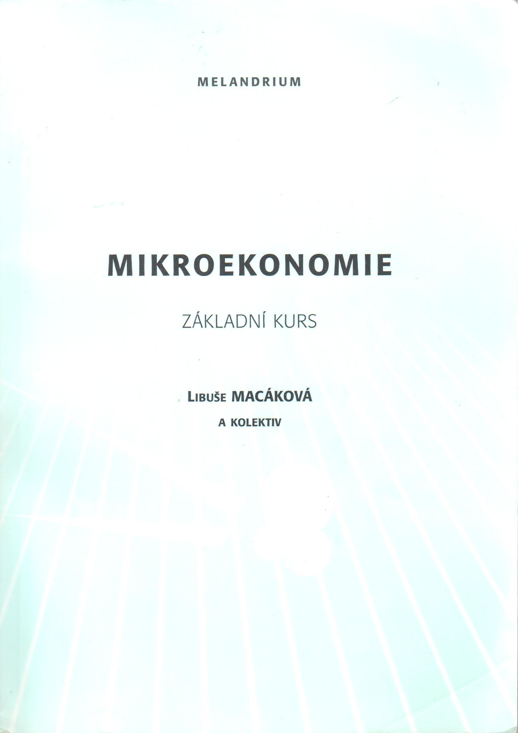 Mikroekonomie: Základní kurz - Náhled učebnice