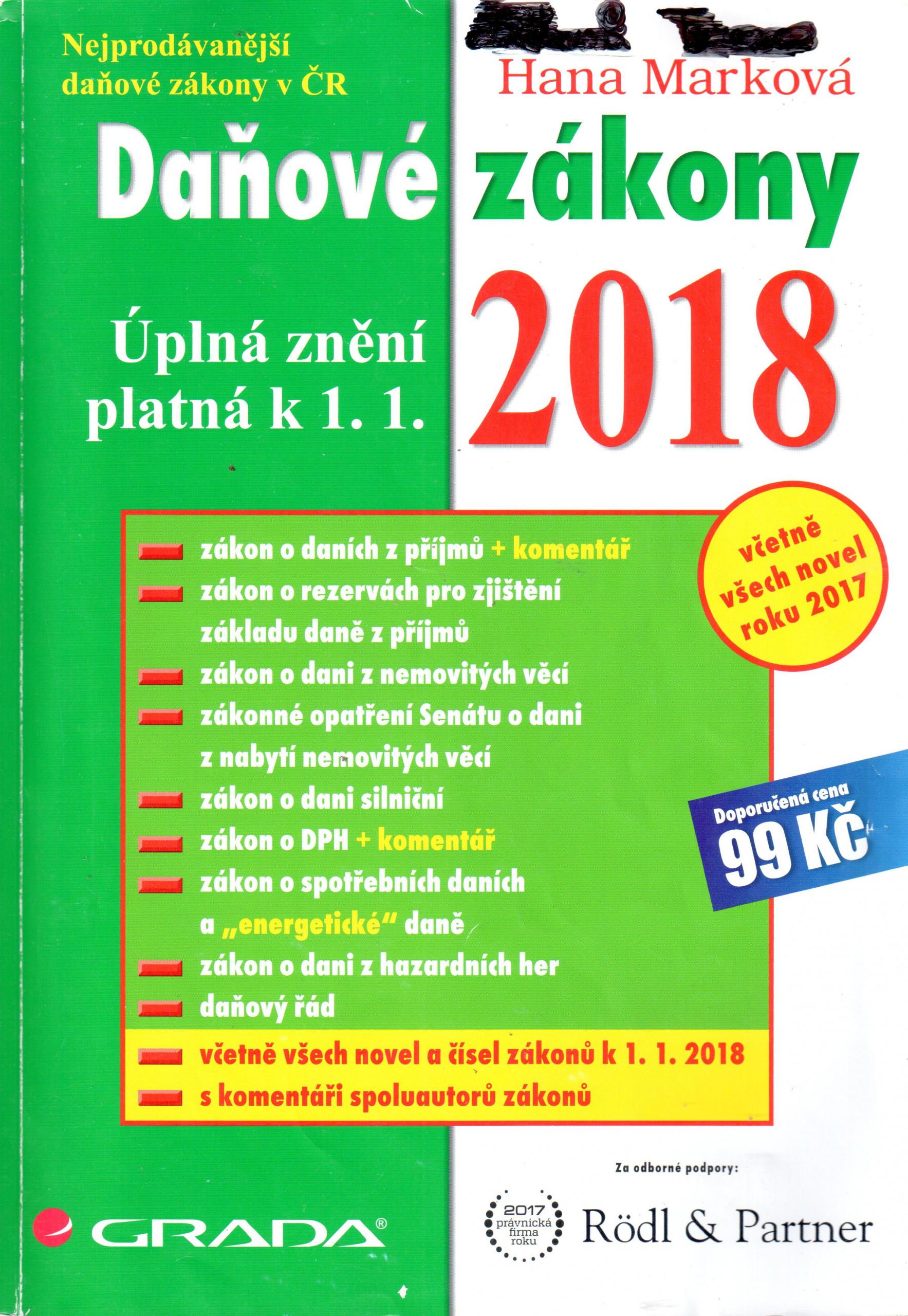Daňové zákony 2018 - Náhled učebnice