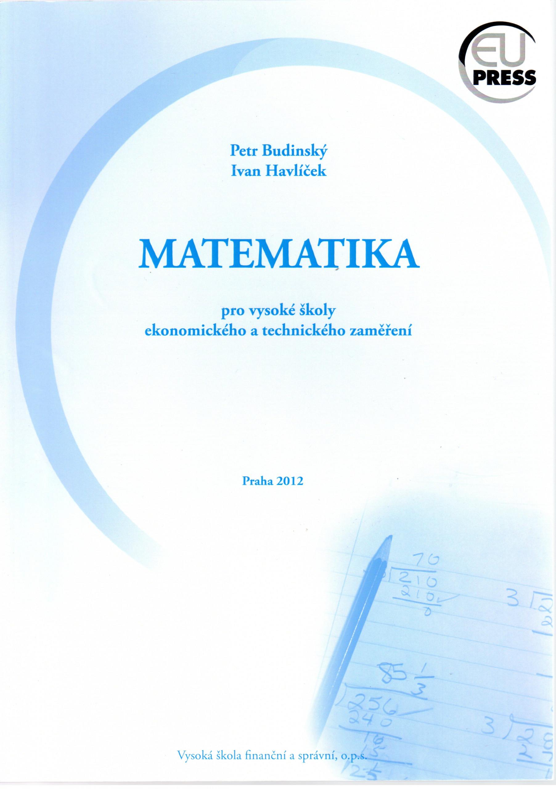 Matematika pro vysoké školy ekonomického a technického zaměření - Náhled učebnice