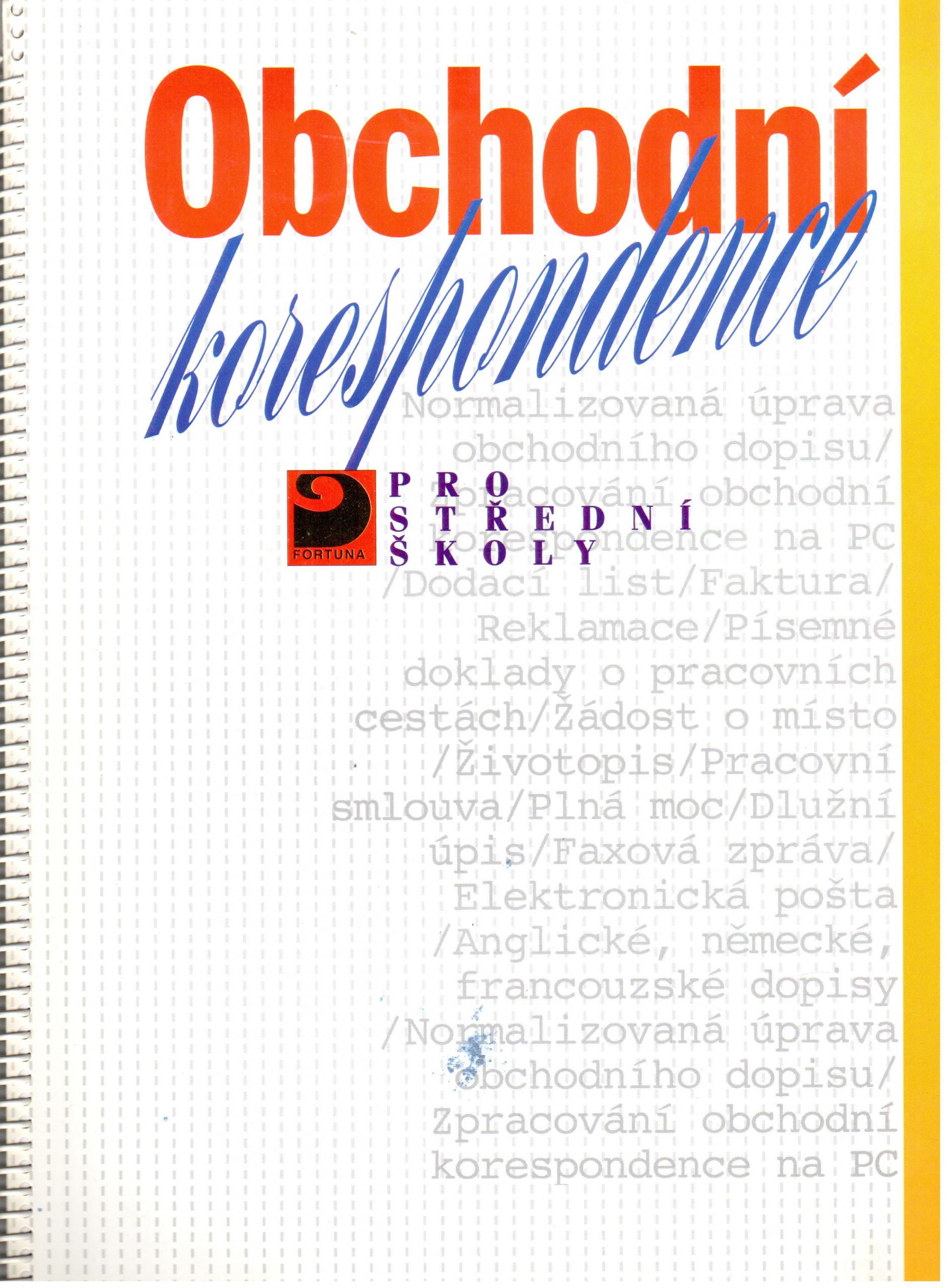 Obchodní korespondence pro střední školy - Náhled učebnice