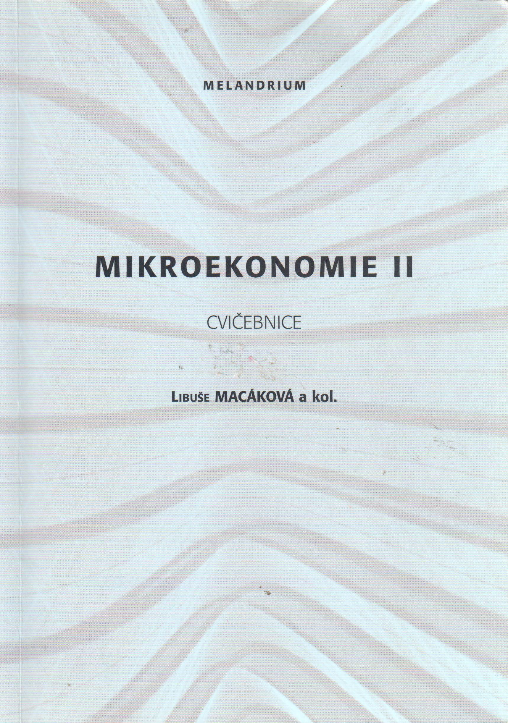 Mikroekonomie II (cvičebnice) - Náhled učebnice