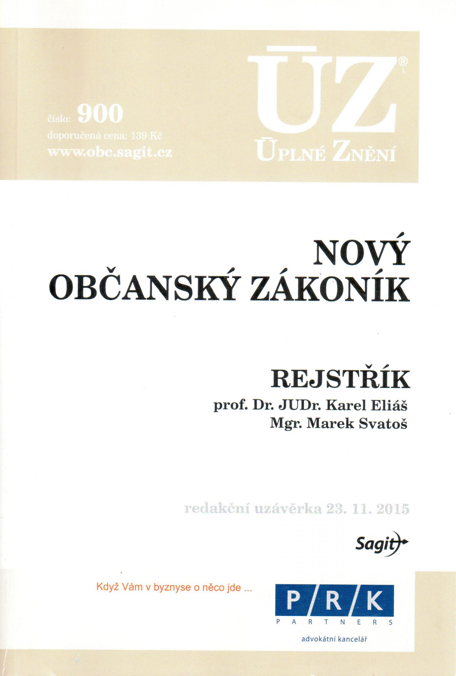 ÚZ č. 900: Nový občanský zákoník 2014 - Náhled učebnice