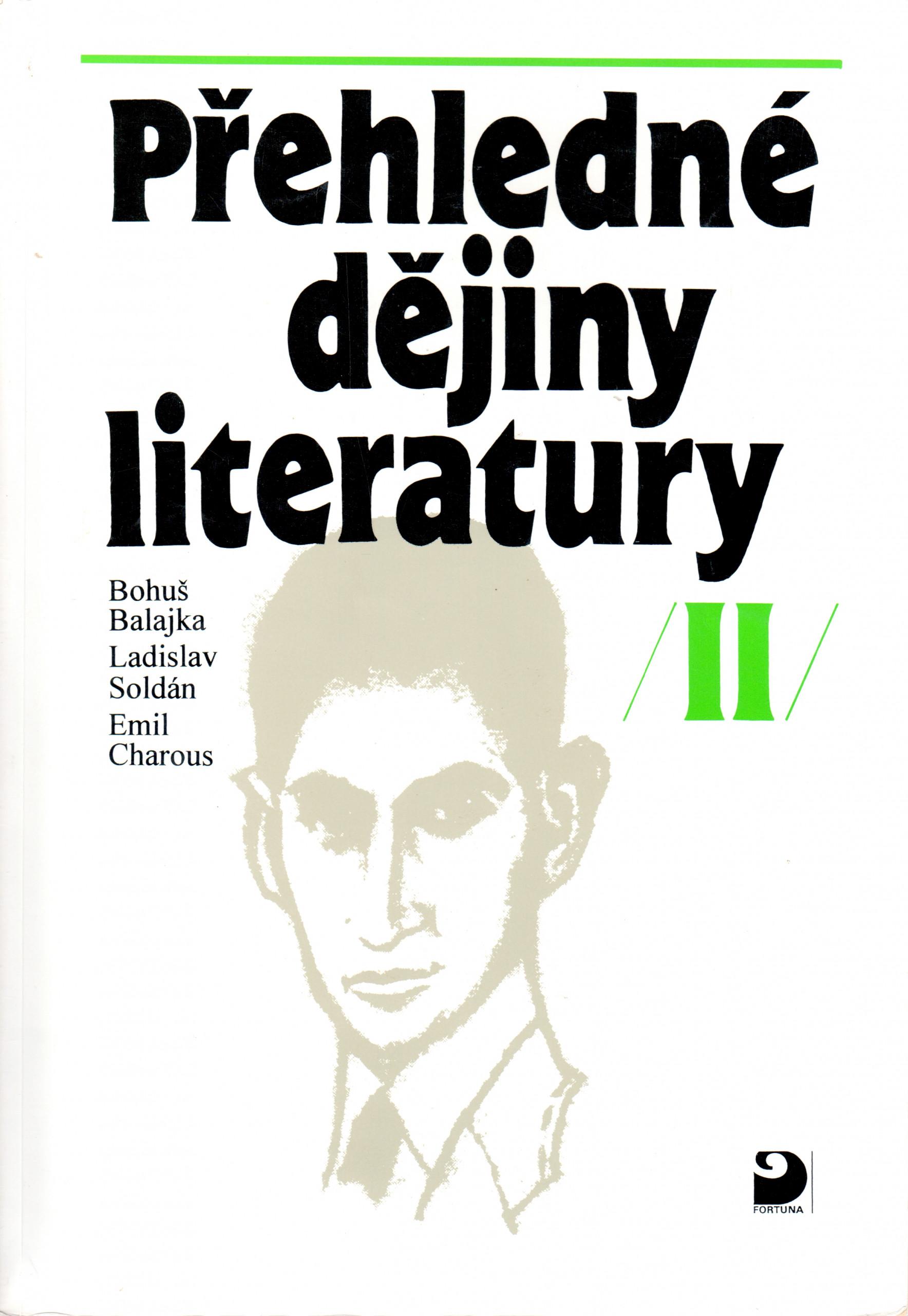 Přehledné dějiny literatury II - Náhled učebnice