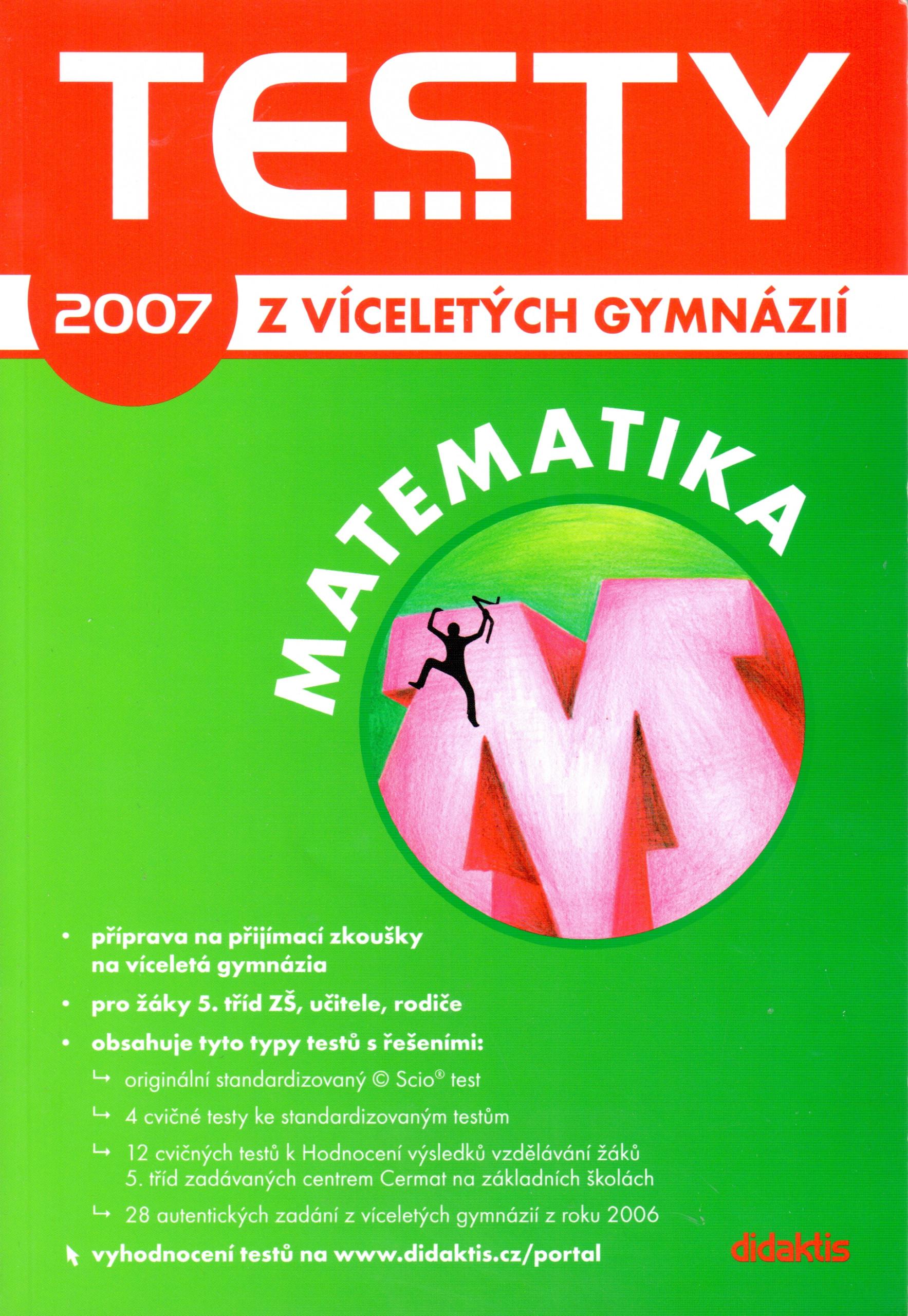 Testy z víceletých gymnázií 2007: Matematika - Náhled učebnice