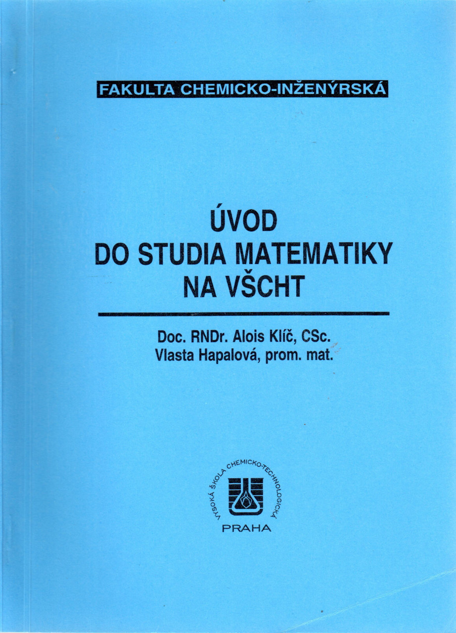 Úvod do studia matematiky na VŠCHT