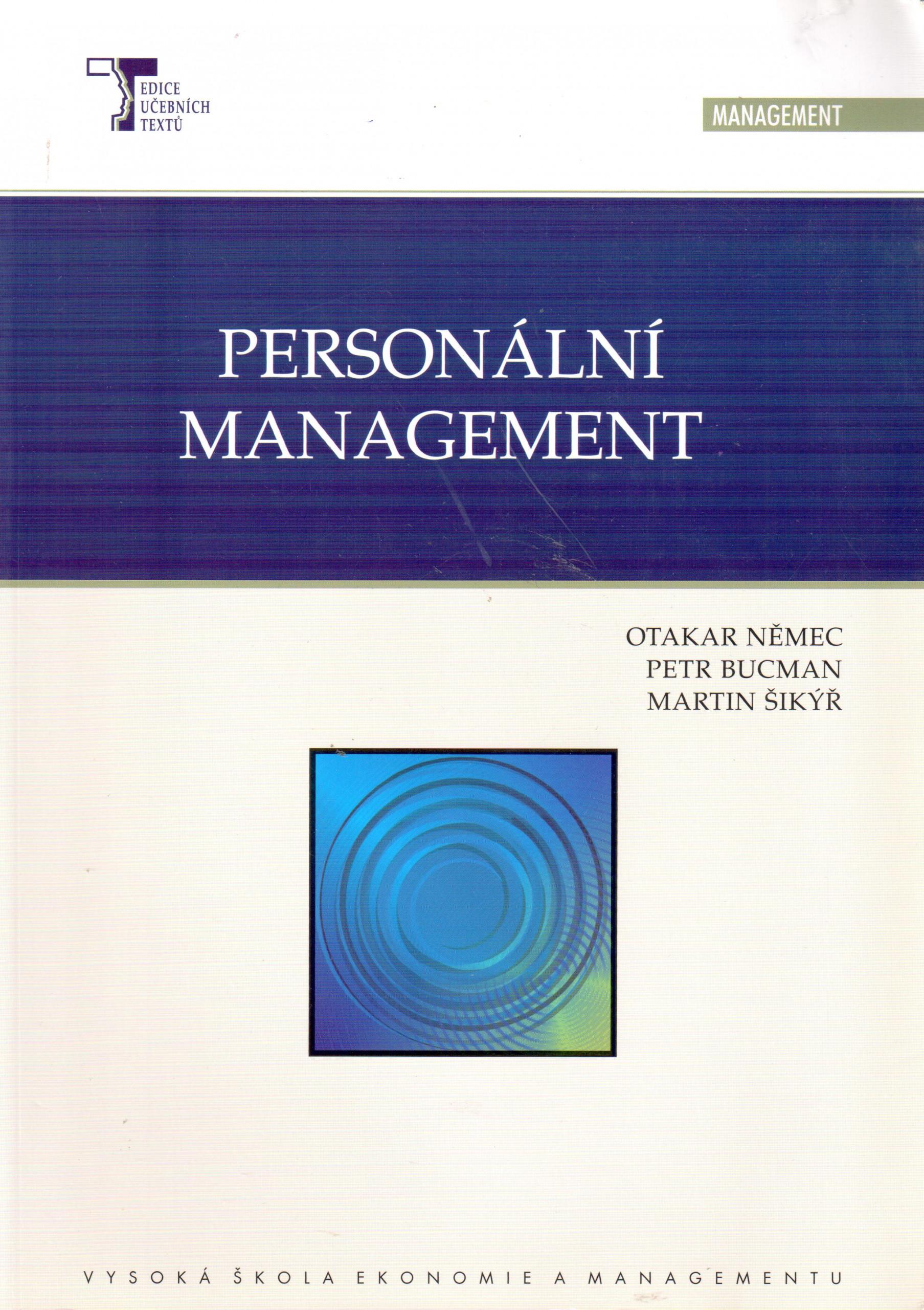 Personální management - Náhled učebnice