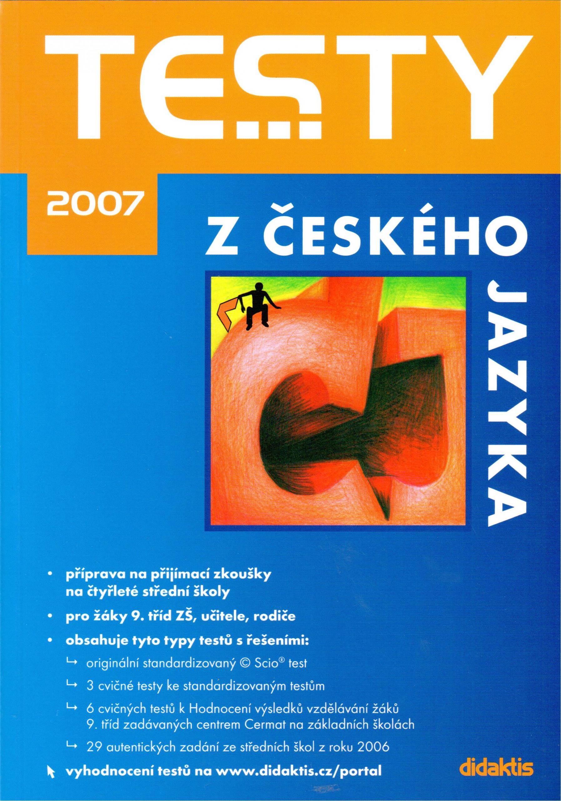 Testy z českého jazyka 2007 - Náhled učebnice