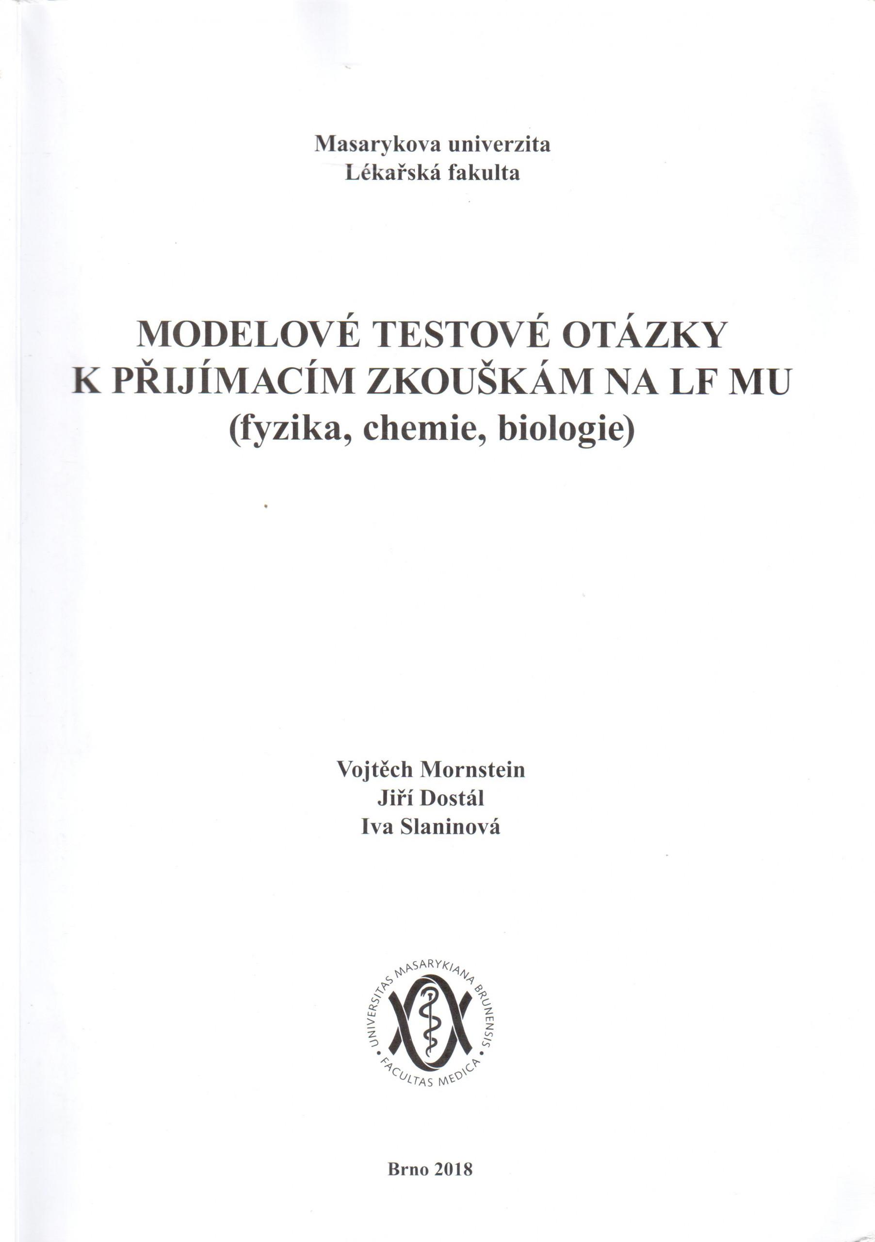 Modelové testové otázky na LF MU - Náhled učebnice