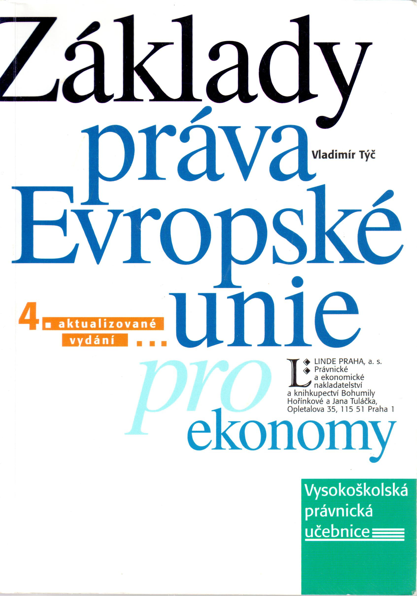 Základy práva Evropské unie pro ekonomy - Náhled učebnice