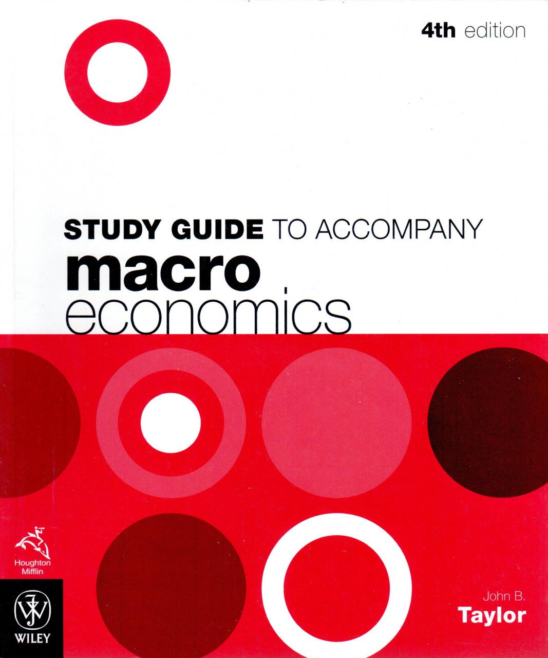 Study Guide to Accompany Macroeconomics (4. vydání)