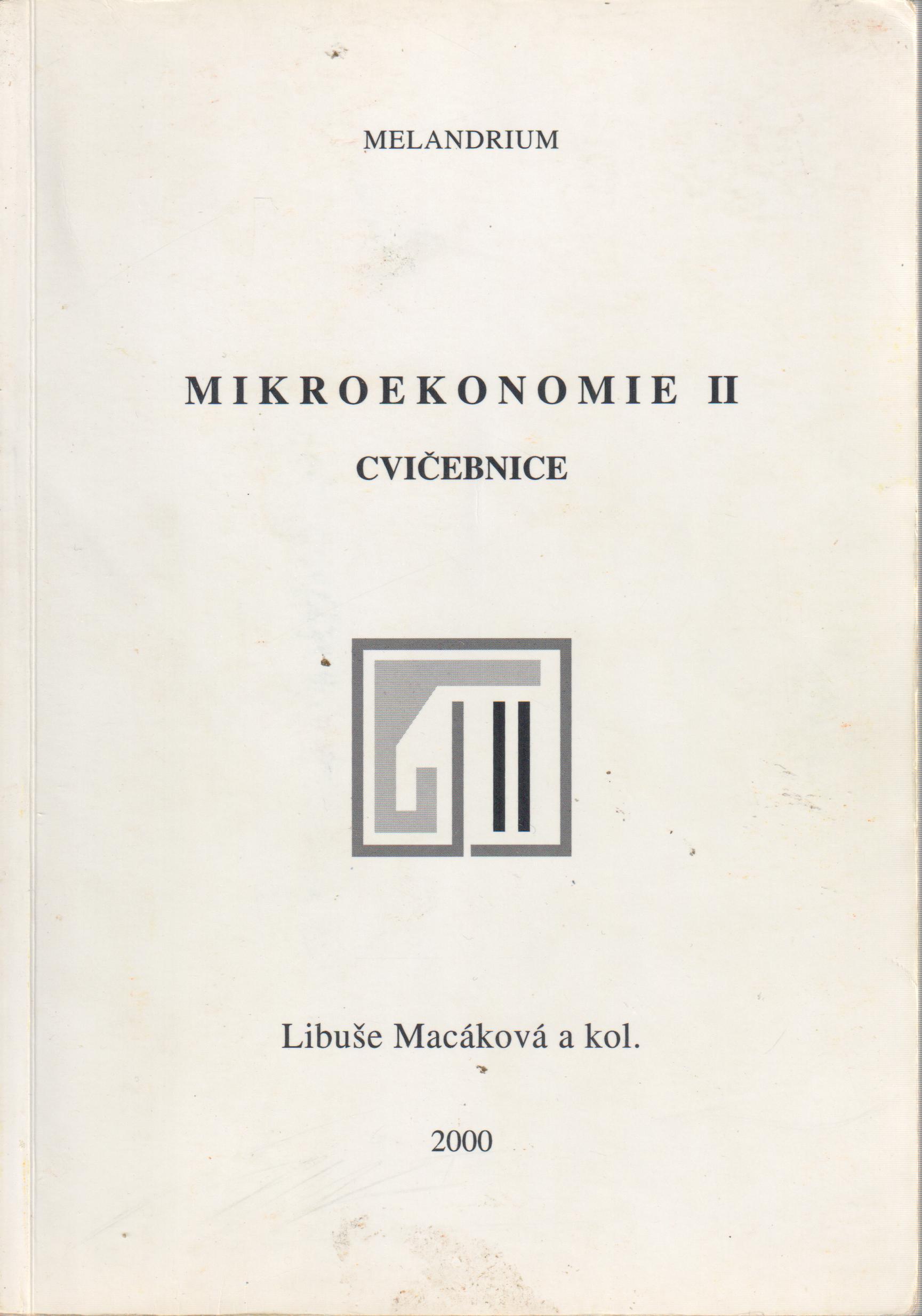 Mikroekonomie II, cvičebnice - Náhled učebnice