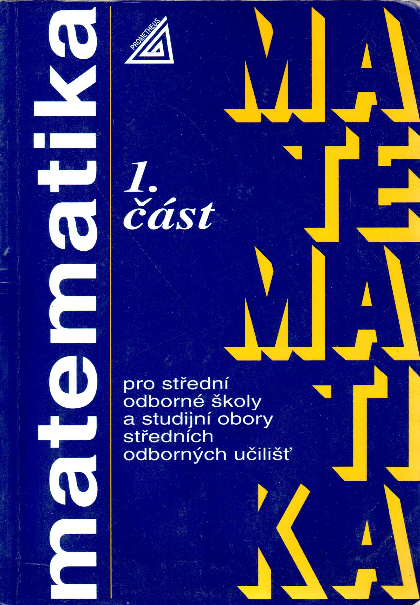 Matematika pro SOŠ a studijní obory SOU (1. část) - Náhled učebnice